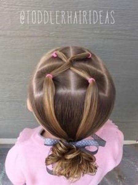 Penteado fácil para menina